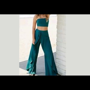 Free People Turquise Wrap Pants set